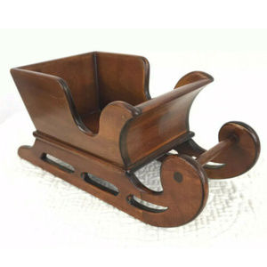 Handcrafted Wooden Sleigh Holiday Decor Christmas